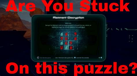 mass effect console remnant glyph puzzle tutorial mass effect andromeda glyph