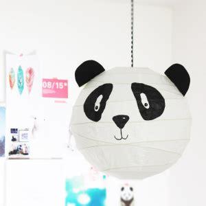 panda lampe diy basteln edding filzstift malen ikea kinnertied kinder kinderzimmer aufmacher