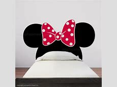 MINNIE MOUSE EARS WITH BOW HEADBOARD - Kids wall decals ... Mickey And Minnie Mouse Tumblr Black And White