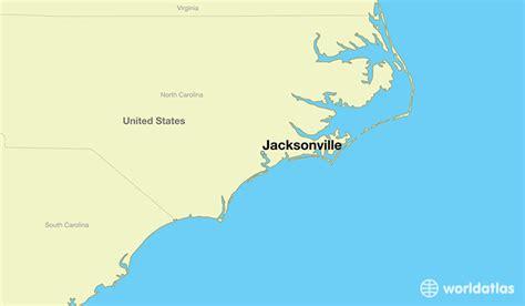 world map carolina where is jacksonville nc where is jacksonville nc