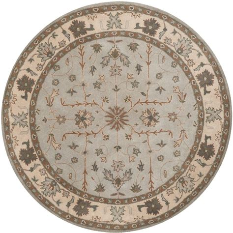 6ft circular rugs safavieh heritage green beige 6 ft x 6 ft area rug hg864a 6r the home depot