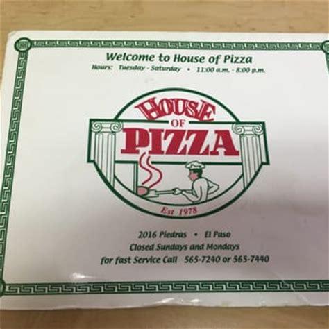 house of pizza el paso house of pizza 36 photos 61 reviews pizza 2016 n piedras st el paso tx