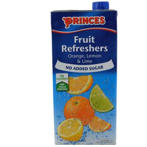 fruit refreshers princes fruit refreshers orange lemon and lime 1l