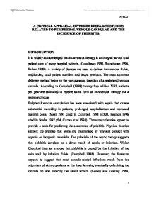 Critical Appraisal Exle Essay by A Critical Appraisal Of Three Research Studies Related To Peripheral Venous Cannulae And The