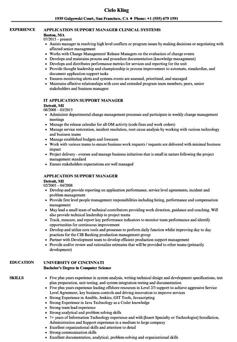 beautiful sle resume application support manager