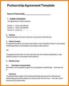 Simple Partnership Agreement Template Free 10 simple partnership agreement template