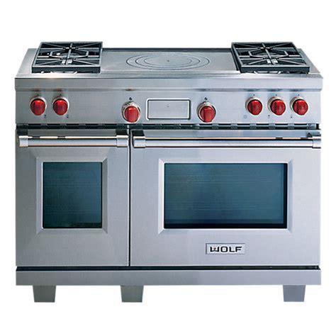 Wolf Kitchen Appliances Australia buy wolf icbdf484f dual fuel range cooker stainless steel lewis