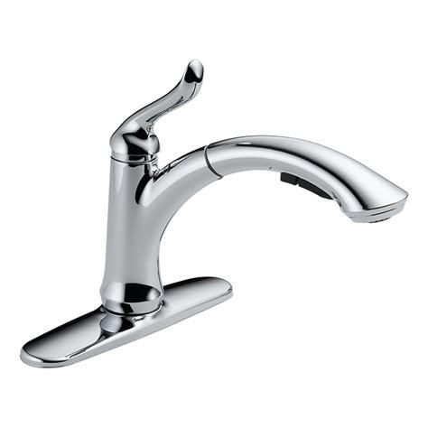 delta linden kitchen faucet quot linden quot pull out kitchen faucet chrome rona