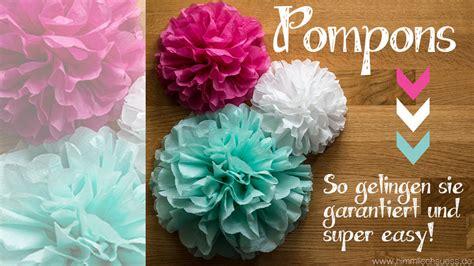 Pompons Selber Basteln by Pompoms Basteln Die Perfekte Deko F 252 R Hochzeit