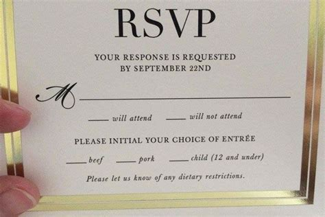 Wedding Card Reddit by Wedding Rsvp Card Children Menu Fail Reddit