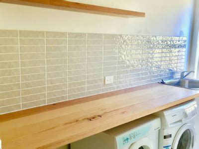 laundry bench tops timber benchtops fix up look sharp