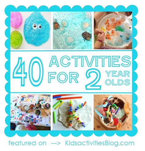 40 activities for two year olds diy craft projects