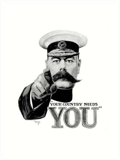 Kitchener Wants You by Quot World War One Lord Kitchener Ww1 Your Country Needs