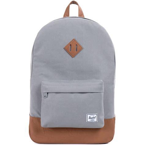 Original Herschel Heritage Backpack Lt Grey Lg herschel supply heritage backpack grey