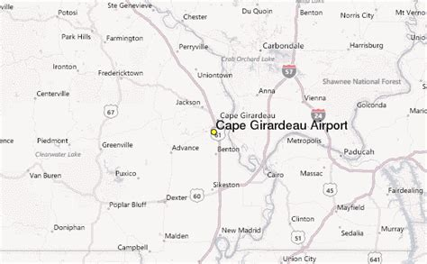 missouri map airports cape girardeau airport weather station record historical