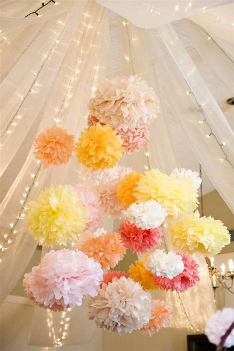 Tissue Paper Flowers Hanging Decoration by How To Make Tissue Paper Flowers