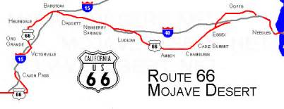 route 66 california map mojave desert route 66