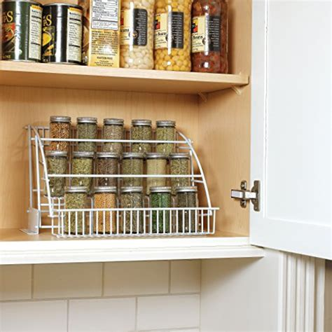 under cabinet spice rack that pull down rubbermaid pull down spice rack white fg8020rdwht buy
