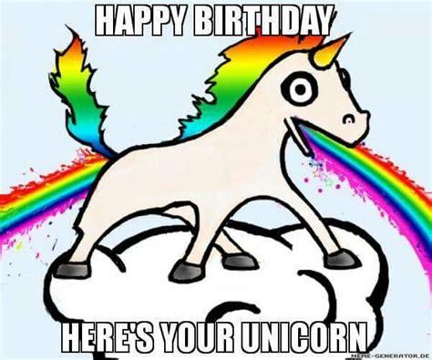 Unicorn Rainbow Meme - 1000 images about birthday on pinterest birthday wishes