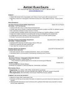 Gis Resume Template by Gis Analyst Resume Us Unique Resume Exles Office
