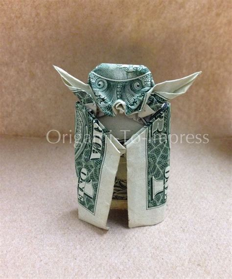 Origami Birthday Gift Ideas - one dollar bill money origami yoda the best way to impress