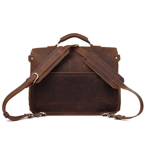 s handmade vintage leather briefcase leather satchel