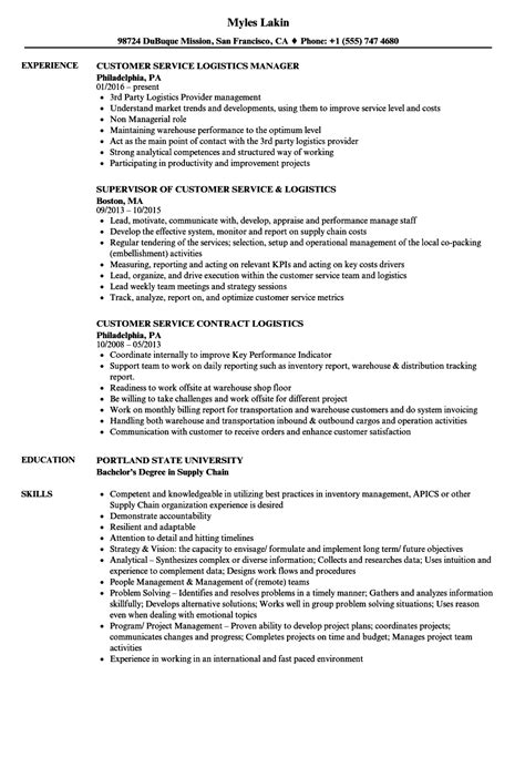 Resume Sles For Customer Service Executive sle resume logistics manager printing technician cover