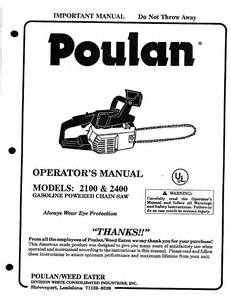 poulan chainsaw 2100 user guide manualsonline com
