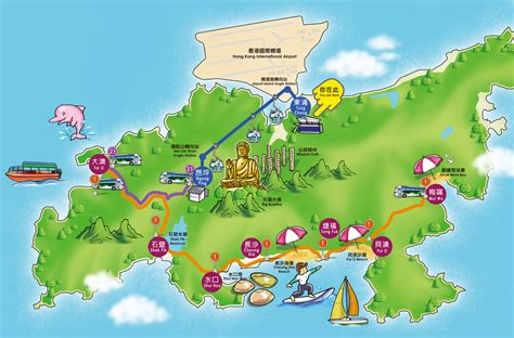 image gallery hong kong tourist attractions tian buddha map hong kong maps of hong kong tourist