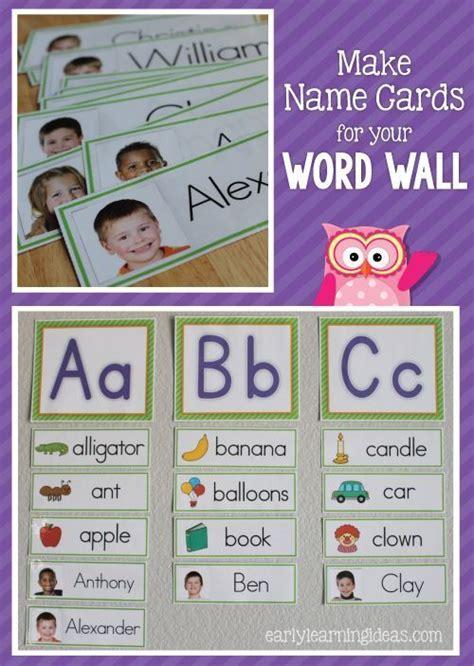 kindergarten cards template 315 best name activities for preschool images on