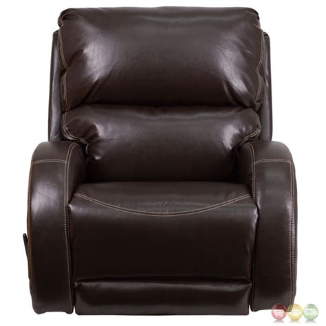 brown leather rocker recliner contemporary ty brown leather rocker recliner