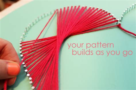 String Patterns Without Nails - day craft day ideas the sits