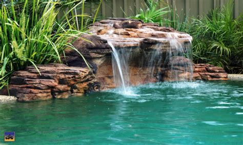 rock waterfalls for pools rock swimming pool pond grottos
