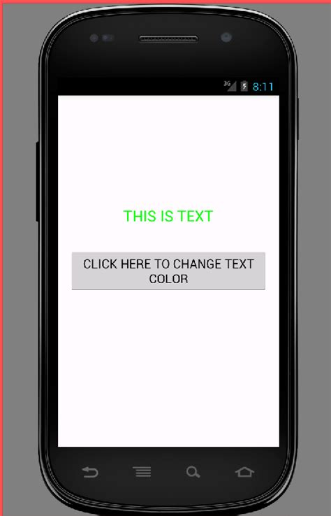 android set layout weight programmatically textview set textview text color in android programmatically