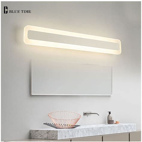 Acrylic Bathroom Mirror Acrylic Bathroom Mirror Front Light Led Wall L Modern For Bathroom Bedroom Led Sconces Wall