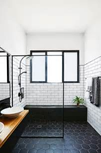 modern black and white bathrooms best 25 tile flooring ideas on tile floor