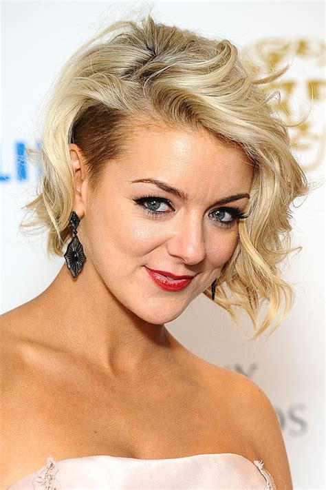 one side shaved hairdo tutorials sheridan smith s hollywood glamour waves side undercut