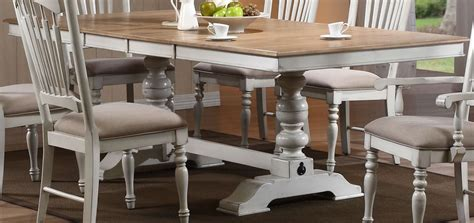 white distressed dining table hollyhock distressed white dining table from homelegance