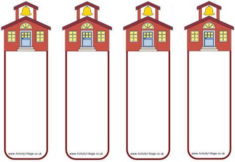 printable school house template school house bookmarks blank