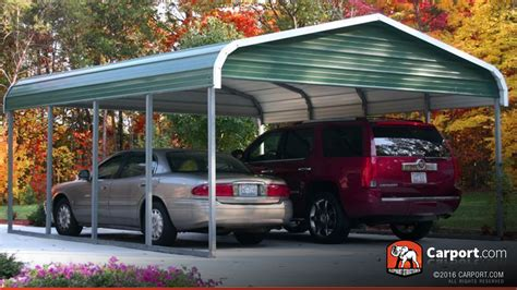 2 Car Car Port by Two Car Carport 18 X 21 Regular Roof Shop Metal