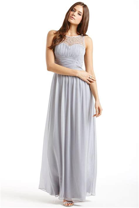 Dress Grey grey embellished detail maxi dress