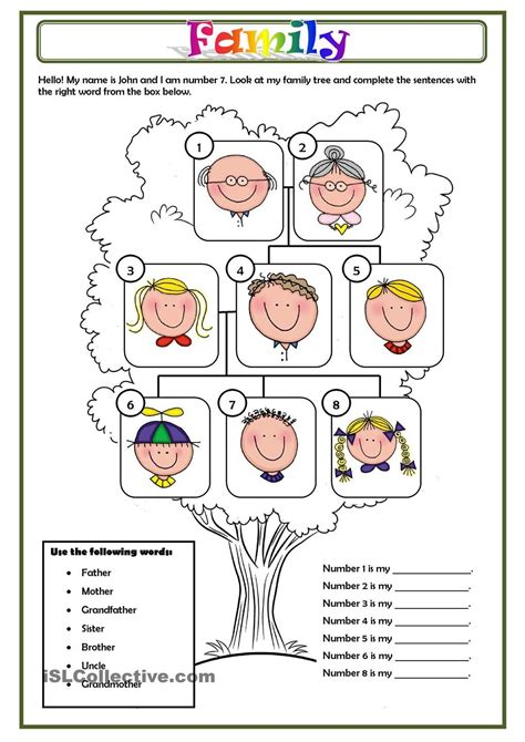 biography questions for family members family education pinterest familias ingles ni 241 os y