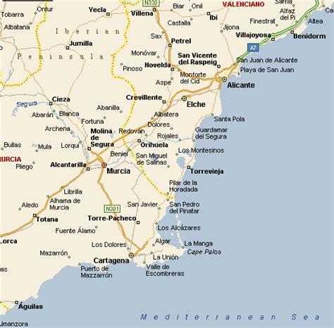 map of alicante area alicante area map
