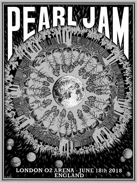 Pearl Jam Concert Poster: London, England 6-18-2018
