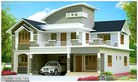 Beautiful Contemporary House Design Kerala Kerala House Contemporary House Plans Kerala