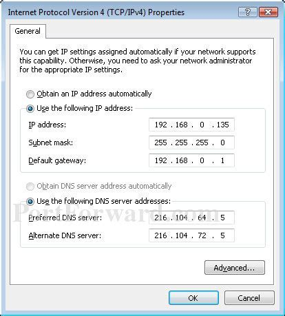 how to configure a static ip address in red hat centos setting a static ip address in windows 7