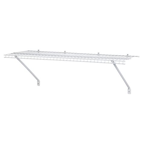 closetmaid wire shelving shop closetmaid 48 in wire wall mounted shelving at lowes