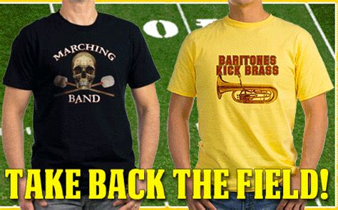 Kaos Marcingband marching band t shirts for brass players at bandnerd