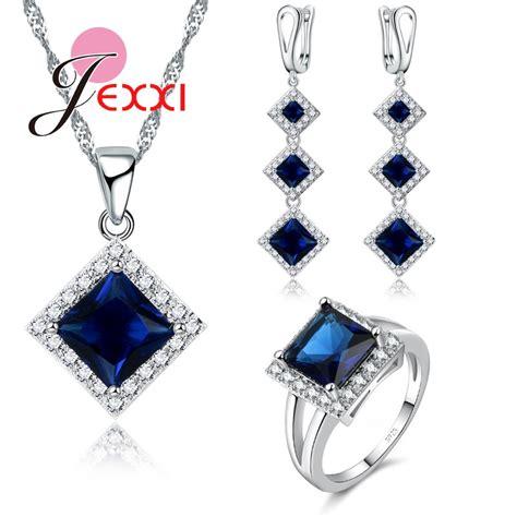 jexxi top quality 925 prata esterlina colar brincos anel