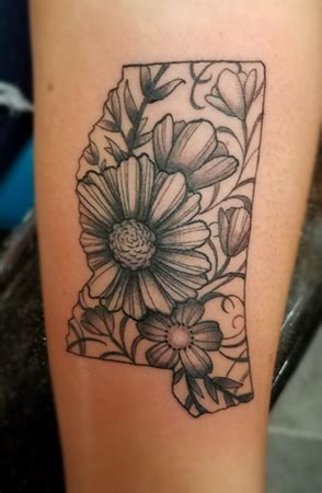 state of mississippi tattoo designs mississippi state floral jacksonmstattoo